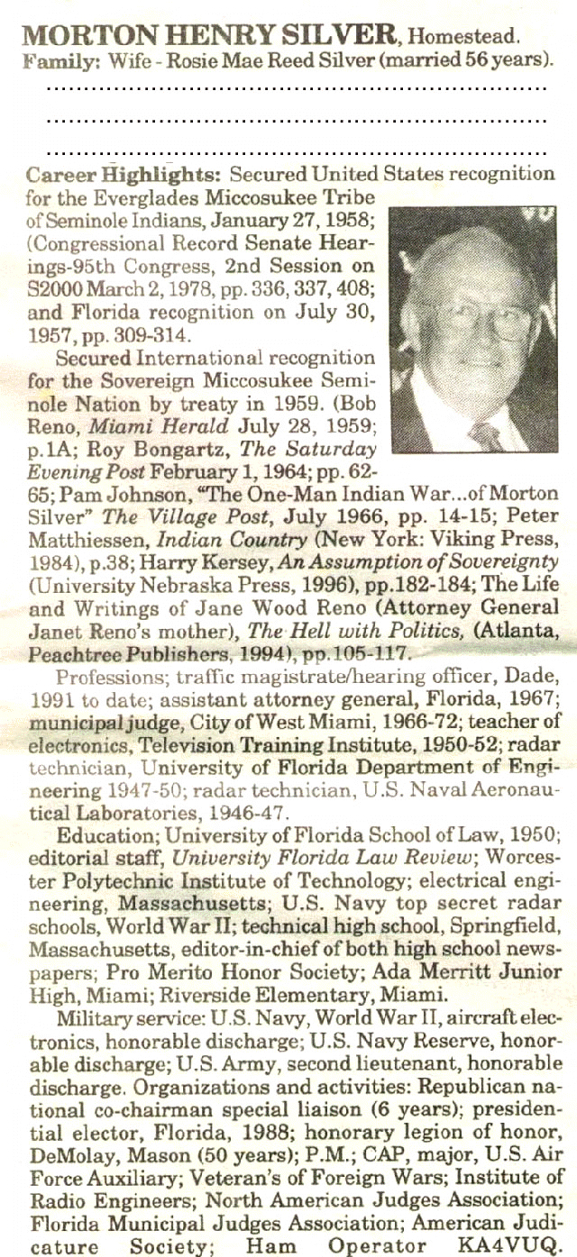 Morton Henry Silver legal counsel