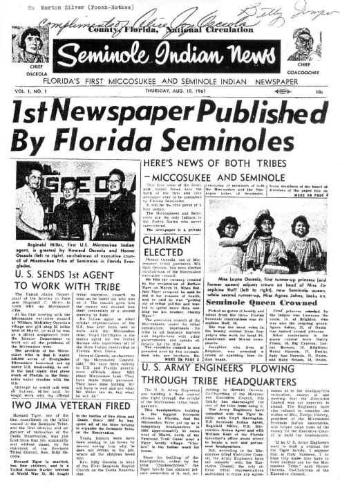 Seminole Indian News First Edition